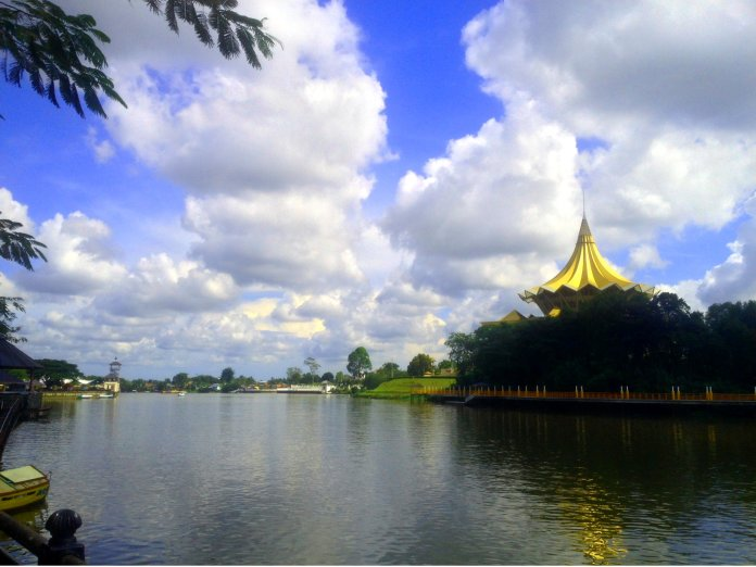 The scenic Kuching Waterfront