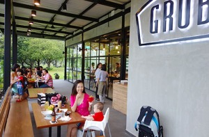 Get your GRUB on at the tranquil Bishan Park.
