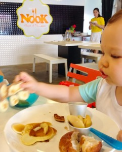 Delight the kids at Nook DIY House of Pancakes.