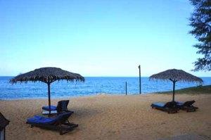 The pristinely beautiful Tanjong Jara Beach