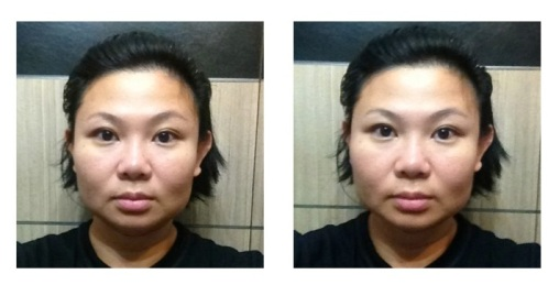 Before GinZing (left); After GinZing (right)