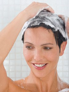 A good rule of thumb when washing your hair is to rinse out the suds for 30 to 60 seconds.