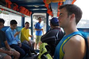 The experience of Pulau Ubin begins on a bumboat!
