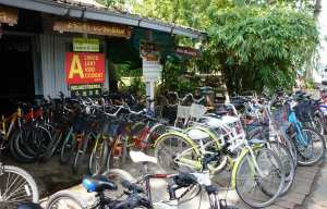 Comfort Bicycle Rentals - it's the shop closest to the island taxi shelter