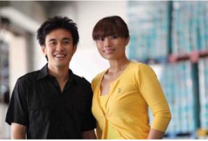 Nicholas and Nichol Ng, founders of The Food Bank