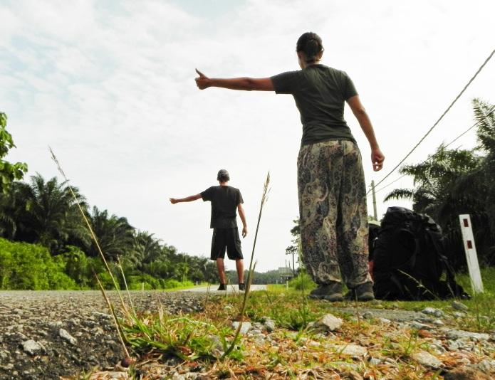 Autostop en Malasia