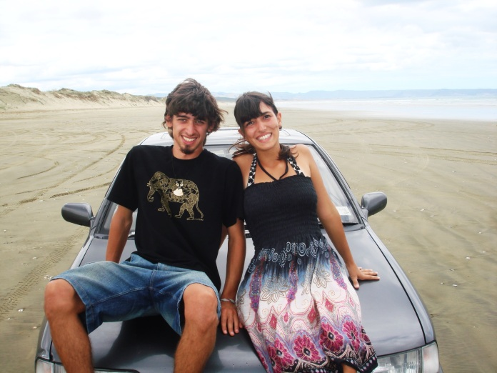 Juan and Daniela in Northland, New Zealand