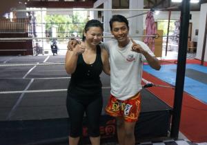With my instructor Binbin Pardede