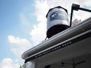 The water tank on top of the restaurant