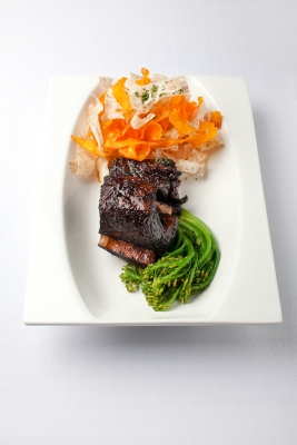 Spicy Kalbi Beef Short Ribs, $36
