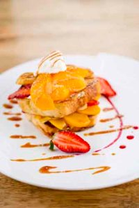 Banana Split Brioche French Toast Stack