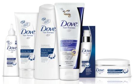 Dove Hair Therapy Intense Repair range