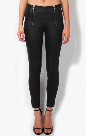 Waxed Zipper Leggings, $31.90