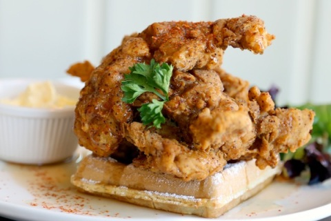 Spiced Maple Chicken Waffle