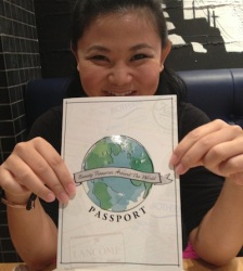 Denise and I wrote the copy for this passport!