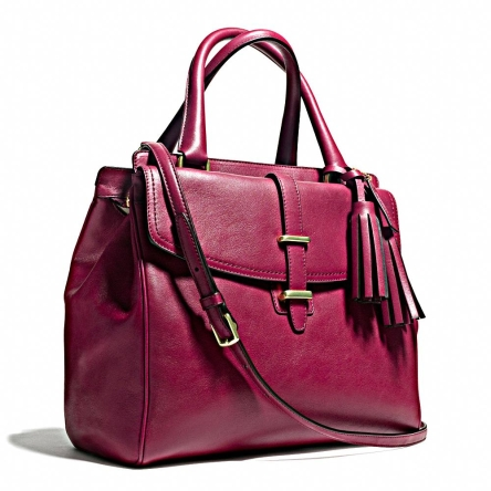 The Legacy Satchel, $895, is the perfect accessory that adds a pop of colour to formal work outfits.