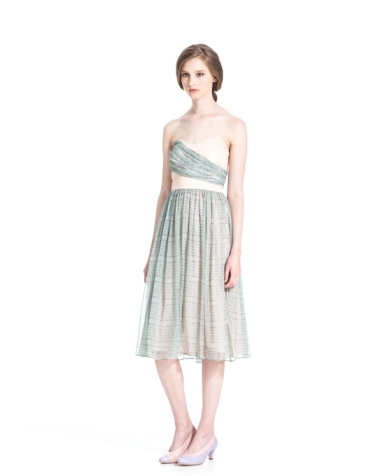 Pleated Tube Dress in Mellow Print, $279