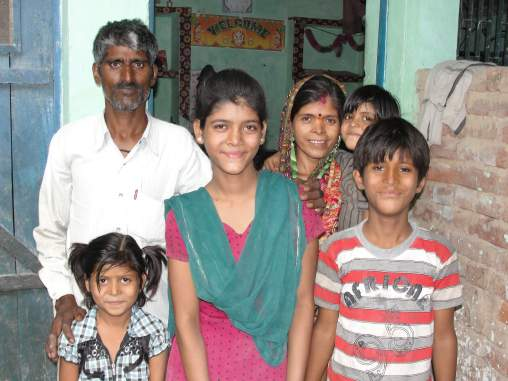 Kamla Devi and her family