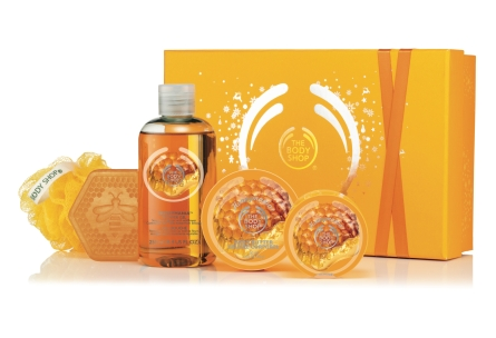 Honeymania Shower, Scrub and Soften Collection, $39.90