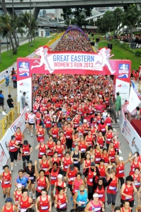 Participants at the Great Eastern Women's Run 2013 - 10km Category (2125x3200)