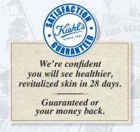 Did you know that Kiehl's offer a 100% money-back guarantee within 28 days of purchase? Click here for more details.