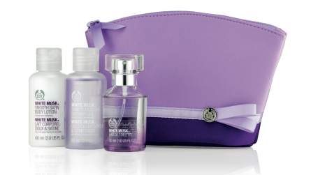 White Musk Classic Shower, Soften and Spritz Set, $36.90