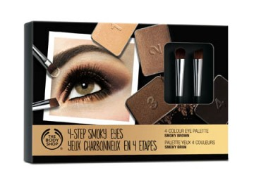 The Body Shop 4-Step Smoky Eye Palette in Smoky Brown