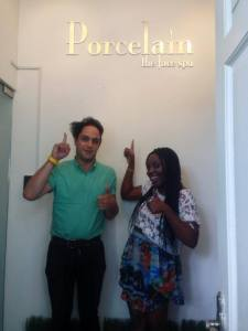 The Noisettes paid Porcelain, The Face Spa a visit when they were in Singapore.