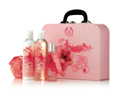 Japanese Cherry Blossom Shower, Soften and Spritz Voyage Set ($65.90)