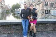 Alain and I in his hometown of Bruges, Belgium.