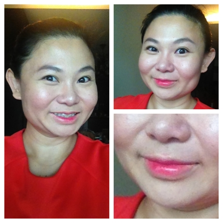 Finished look with a close-up of my lips!