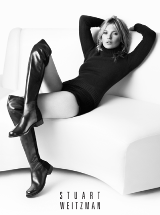 Kate Moss in Stuart Weitzman's Fall/Winter 2013 ad campaign