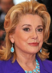 French actress Catherine Deneuve's lip area displays signs of wrinkles caused by her smoking habit.