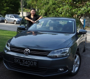 With my favourite ride of the trip - the Volkswagen Jetta!