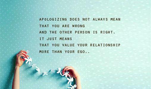 Mending a broken relationship