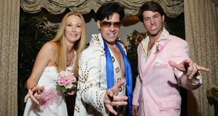 I don't care if Elvis is my witness. I just want to have fun at my wedding.