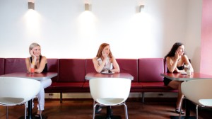 Can we please have more stock images of women looking happy when they are eating alone?
