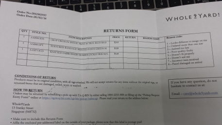 The returns form