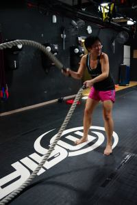 Keep calm and work those battle ropes (Image credit: Bang Ong)