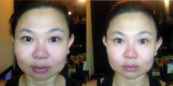 Before (left) and After (right). Pictures have not been touched up or digitally altered in any way.