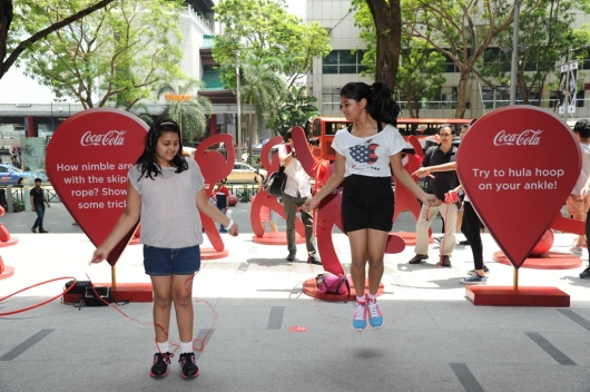 "From now until the end of April, expect to see Coca-Cola's ""Movement is Happiness"" pop-up activity stations across Singapore."