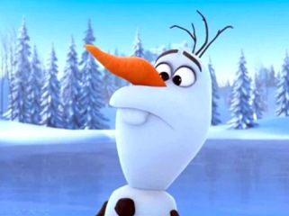 "Olaf, from the movie ""Frozen"""