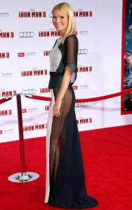 Gwyneth's boldly chic outfit at the L.A. red carpet premiere of Iron Man 3.