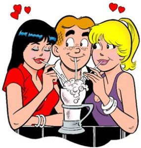 Think you could ever share a crush like Betty and Veronica?