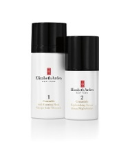 Ceramide Boosting 5-Minute Facial: Self-Foaming Mask (left) and Replenishing Serum