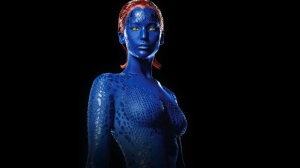Relax- it's not her blue body paint we're talking about.