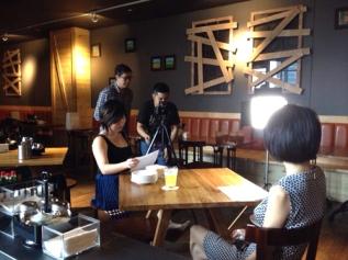 Behind the scenes of the Elizabeth Arden Untold Legere shoot.