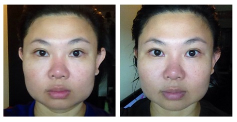Before (left) and After (right). Pictures are not digitally altered or touched up in any way.