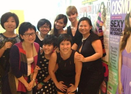 Deborah (far right) on her last day with her team from Cosmopolitan.