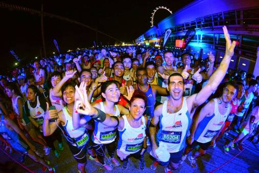 Photo taken from the Official Sundown Marathon Singapore Facebook page.